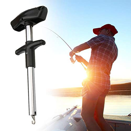 (LonTime Easy Fish Hook Remover Tool - 2019 New Squeeze-Out Fish Hook Separator Tools, Portable Easy Reach Stainless Steel Fishing Hooks Extractor, Fast Decoupling, No Injury)
