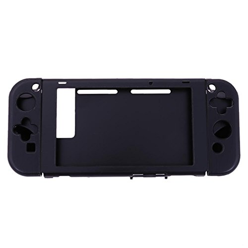 Szjay Aluminum+Plastic Anti-scratch Dustproof Hard Back Protective Case Cover Shells for Nintendo Switch NS Console with Joy-Con Controller (Black)
