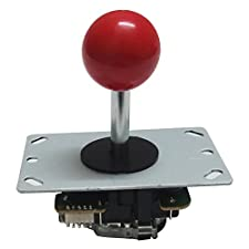 Tongmisi Arcade Joystick with PCB 8 Way DIY Joystick Fighting Stick Parts Replacement for Jamma MAME (Red)