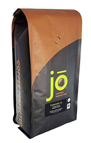 COLOMBIA JO: 2 lb, Organic Ground Colombian Coffee, Medium Roast, Fair Trade Certified, USDA Certified Organic, 100% Arabica Coffee, NON-GMO, Gluten Free, Gourmet Coffee from Jo Coffee