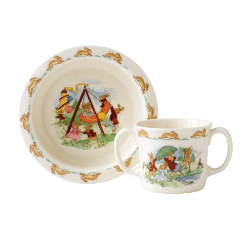 Royal Doulton 07001800 Bunnykins Baby Dinnerware Set, Assorted Motifs (China Fine Bone Doulton Royal)