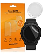 kwmobile 3X transparante displaybeschermfolie compatibel met Garmin Fenix 6X (51mm) - beschermfolie voor fitness tracker schermbescherming
