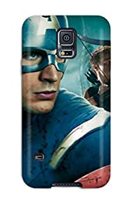 8104893K55307330 Snap On Case Cover Skin For Galaxy S5(captain America In Avengers Movie)