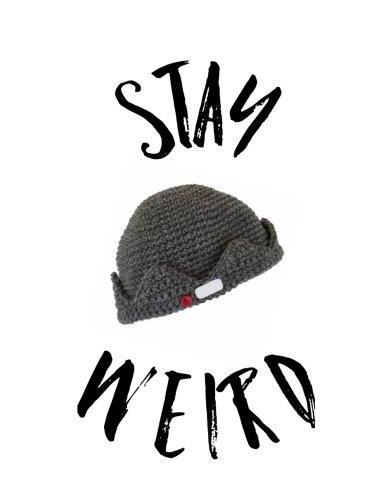 Stay Weird: Jughead Beanie Hat Crown Music Staff Paper Notebook, 8.5 x - 8.5 Cap Beanie