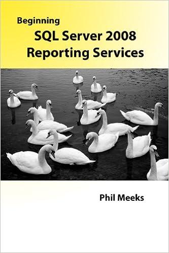 Tekstikirjat ovat ilmaisia latauksia Beginning SQL Server 2008 Reporting Services PDF