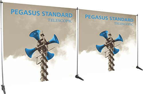 - Exhibitor's Handbook PGSUS2-EXT-S Pegasus Standard Telescopic Banner Stand Extension Kit Frame, Silver