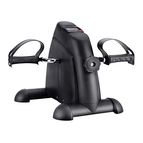 SYNTEAM Mini Exercise Bike with Electronic Display Under Desk Bike Arms Legs Exercise Machine (LWB02, Black) by Synteam (Image #1)