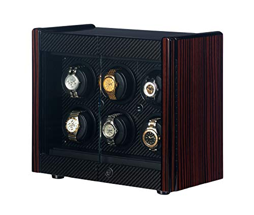 - Orbita - Avanti 6 Macassar/Carbon Fiber | Rotorwind Watch Winder