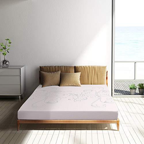 Memory Foam Mattress Twin Size 6 Inch Air Gel Memory Foam Bed Mattress Sleep Comfortable 10 Year Warranty White Design in USA by Polar Sleep