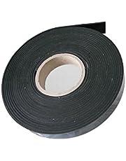 Rubberen band rubberen strip rubberprofiel ca. 9,6 meter x 20 mm breed x 3 mm. EPDM hard rubber zelfklevend, zwart - industrieel product