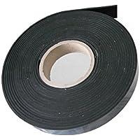 Rubberen band rubberen strip rubberprofiel ca. 9,6 meter x 20 mm breed x 3 mm. EPDM hard rubber zelfklevend, zwart…