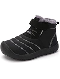 Boy's Girl's Snow Boots Fur Lined Winter Outdoor Slip On...
