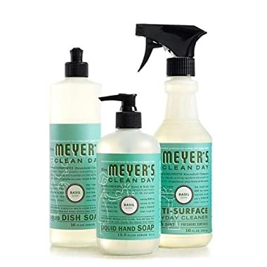 Mrs. Meyers Clean Day Basil Kitchen Basics Set