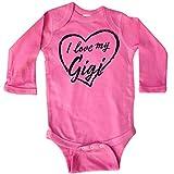 inktastic I Love My Gigi in Black Chalk Long Sleeve Creeper 6 Months Raspberry