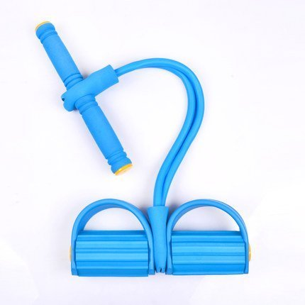 Lilyminiso Household Body Trimmer Sports Fitness Bodybuilding Expander, Resistance Bands Yoga Crunches Elastic Pull Rope, Foot Abdomen Trainer Sit-ups Training Equipment (blue)