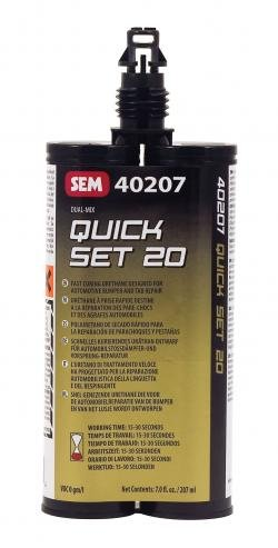 SEM PRODUCTS INC | QUICK SET 20/CLR ADHESIVE 7 OZ | SE40207