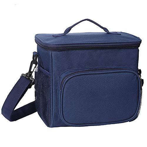 esonmus Bolsa Termica Comida 10L, Termica Porta Alimentos con Correa Portatil Bolsa de Almuerzo para Adulto Ninos Bolsa Nevera Oficina Escuela Viaje (Azul)