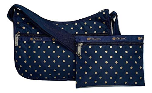 LeSportsac Speckle Dot Classic Hobo Crossbody Bag + Cosmetic Bag, Style 7520/Color -