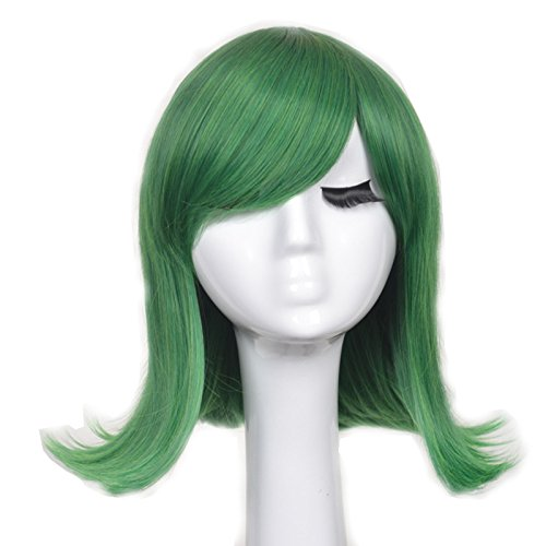 Disgust Costume Women (Yuehong New Fashion Short Green Ainme Party Cosplay Costume Hair Wigs)