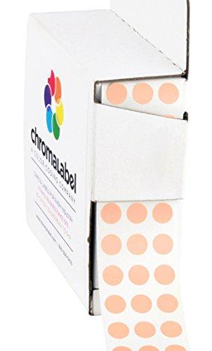 ChromaLabel 1/4 inch Color-Code Dot Labels | 1,000/Dispenser Box (Apricot)