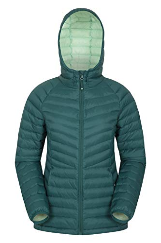 Mountain Warehouse Skyline Womens Hydrophobic Down Jacket – Water Resistant Ladies Winter Coat, Insulated Puffer Jacket…