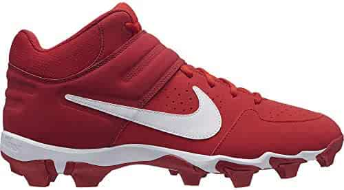 low priced bebd4 b3c17 Nike Men s Alpha Huarache Varsity Keystone Mid Molded Baseball Cleat University  Red White Size 11.5