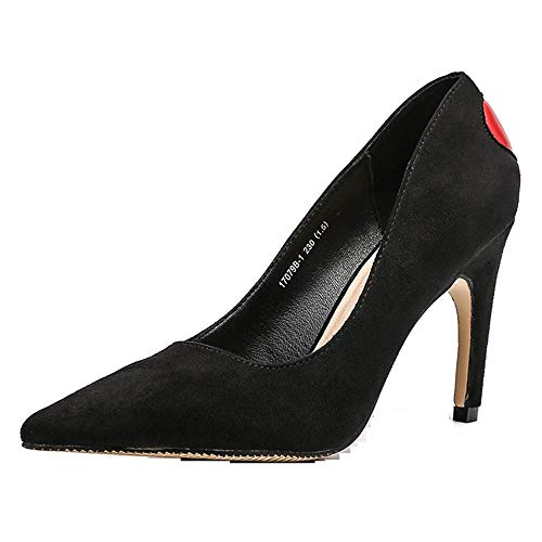 b2868ccac6f Women's Heels Overdose Fashion Thin Heels Shoes Shallow Pointed Toe High  Heels Shoes, Black,