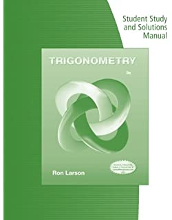 Amazon trigonometry 9781133954330 ron larson books student study guide and solutions manual for larsons trigonometry fandeluxe Choice Image