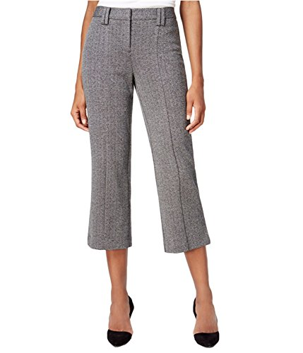 Bar III Womens Woven Printed Dress Pants Gray - Cropped Pants Dress