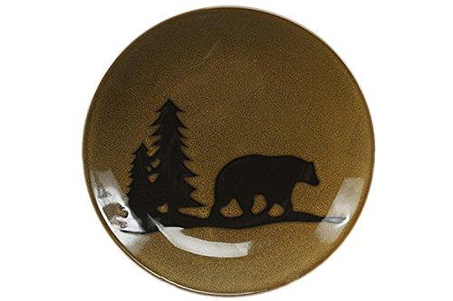 Bear Dinner Plate (DEI Woodland Bear Stoneware Dinner Plate, 11-Inch)