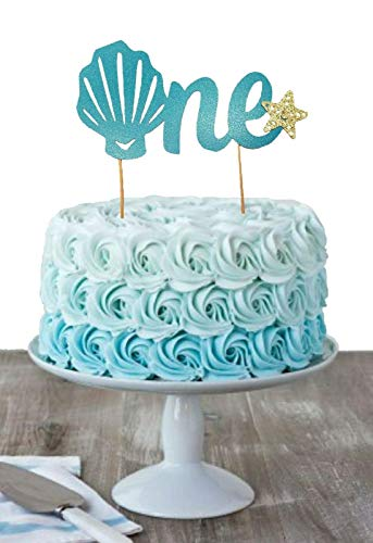 Magnificent Amazon Com Seashell One Cake Topper 1St Birthday Cake Topper Birthday Cards Printable Nowaargucafe Filternl