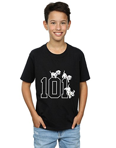 Disney Boys 101 Dalmatians 101 Doggies T-Shirt 7-8 Years Black