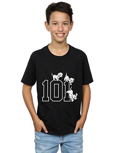 Disney Boys 101 Dalmatians 101 Doggies T-Shirt 5-6 Years Black]()