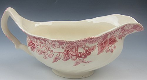 Johnson Brothers China STRAWBERRY FAIR- PINK Gravy Boat w/ No Plate VERY (Fair Gravy Boat)