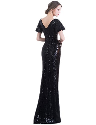 burgundy Xrk180307 Evening Sequins Bridesmaid Dress Prom Gown House Women's Ball Belle zwnCZHvqq