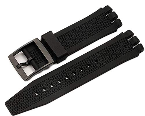 g24 Compatible Black Diving 21mm24mm Silicone Rubber Watchband for Swatch Belt Rubber Watch Band Strap for Irony SCUBA200 YNS4001