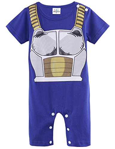 A&J Design Baby Boys' Vegeta Costume Romper (12-18 Months) (Cute Infant Halloween Costumes)