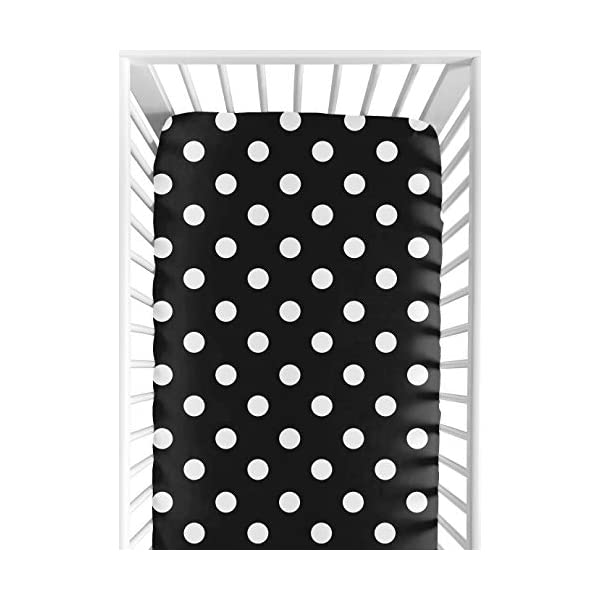 Sweet Jojo Designs Hot Dot Fitted Crib Sheet for Baby/Toddler Bedding – Dot Print