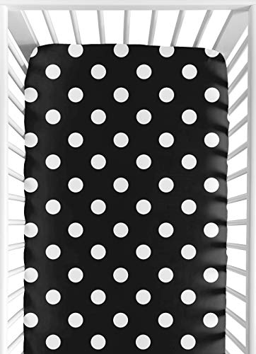 Sweet Jojo Designs Hot Dot Fitted Crib Sheet for Baby/Toddler Bedding - Dot Print