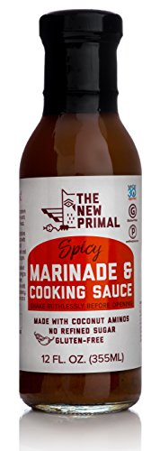 Spicy Soy Sauce (The New Primal Spicy Marinade & Cooking Sauce, Whole30 Approved, Certified Paleo, Certified Gluten-Free, No Refined Sugar, 12oz)
