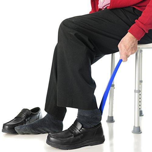 Rehabilitation Advantage Economy 4 Piece Hip/Knee/Back Replacement Kit – Sock Aid, Reacher, Shoehorn, Sponge by Rehabilitation Advantage (Image #5)