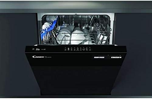 D/épart diff/ér/é Lave vaisselle integrable Bandeau noir Classe /énerg/étique A++ // Affichage temps restant Lave vaisselle encastrable 60 cm Candy CDSN2D350PB