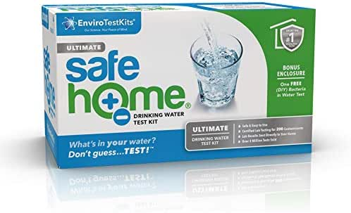 Safe Home ULTIMATE Drinking Water Test Kit – Our #1 Value for Testing CITY & WELL WATER – 200 Contaminants Tested at Our EPA Certified Laboratory – Don't Guess…TEST!
