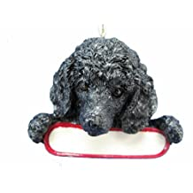 Santas Pals Christmas Dog Ornament - Poodle Black