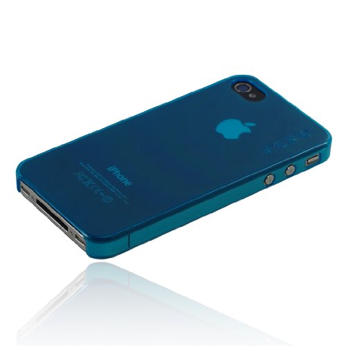 Incipio iPhone 4/4S feather Ultralight Hard Shell Case - 1 Pack - Carrying Case - Retail Packaging - Translucent Westerly Turquoise