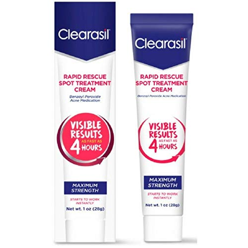 Amazon Com Clearasil Ultra Rapid Action Vanishing Acne Treatment Cream 1 Oz Pack Of 2 Facial Treatment Products Beauty