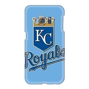Perfect Hard Phone Cases For Samsung Galaxy S6 (Wfz17750sBkQ) Support Personal Customs Colorful Baseball Kansas City Royals 2 Pattern