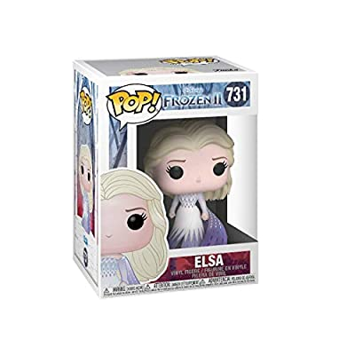 Funko Pop! Disney: Frozen 2 - Elsa (Epilogue Dress), Multicolor, 3.75 inches, (Model: 46582): Toys & Games