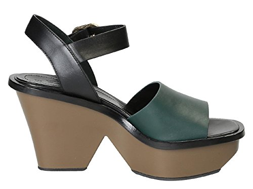 Marni Women's ZPMSU25G10LV623ZI654 Black/Green Leather Sandals sale big discount free shipping fake Red pre order eastbay UUyBsERVb7