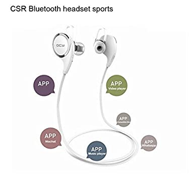 Bluetooth auriculares QY8 V4.1 inalámbrico Deportes Auriculares Sweatproof Correr Gimnasio auriculares estéreo auriculares Mic
